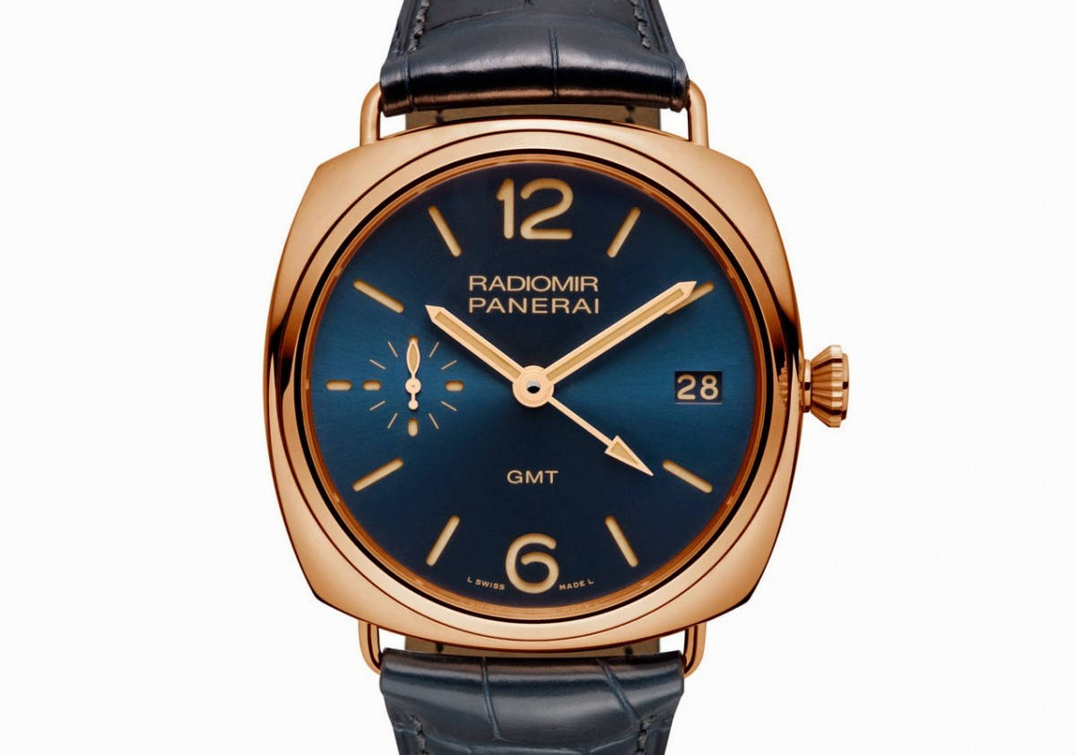 Dazzling Officine Panerai – Radiomir 3 Days GMT Oro Rosso replica styled with the deep blue dial
