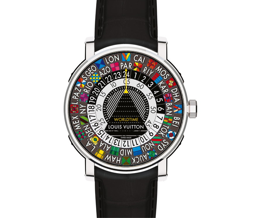reading the world time in replica Louis Vuitton Escale Worldtime