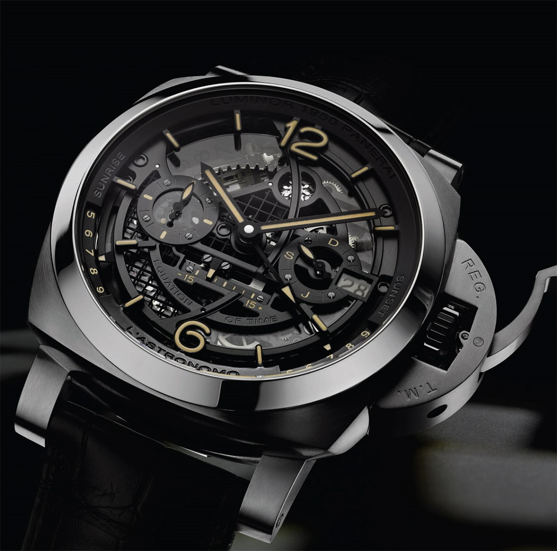 Panerai L'Astronomo Luminor 1950 Tourbillon Moon Phases Equation Of Time GMT Watch Watch Releases